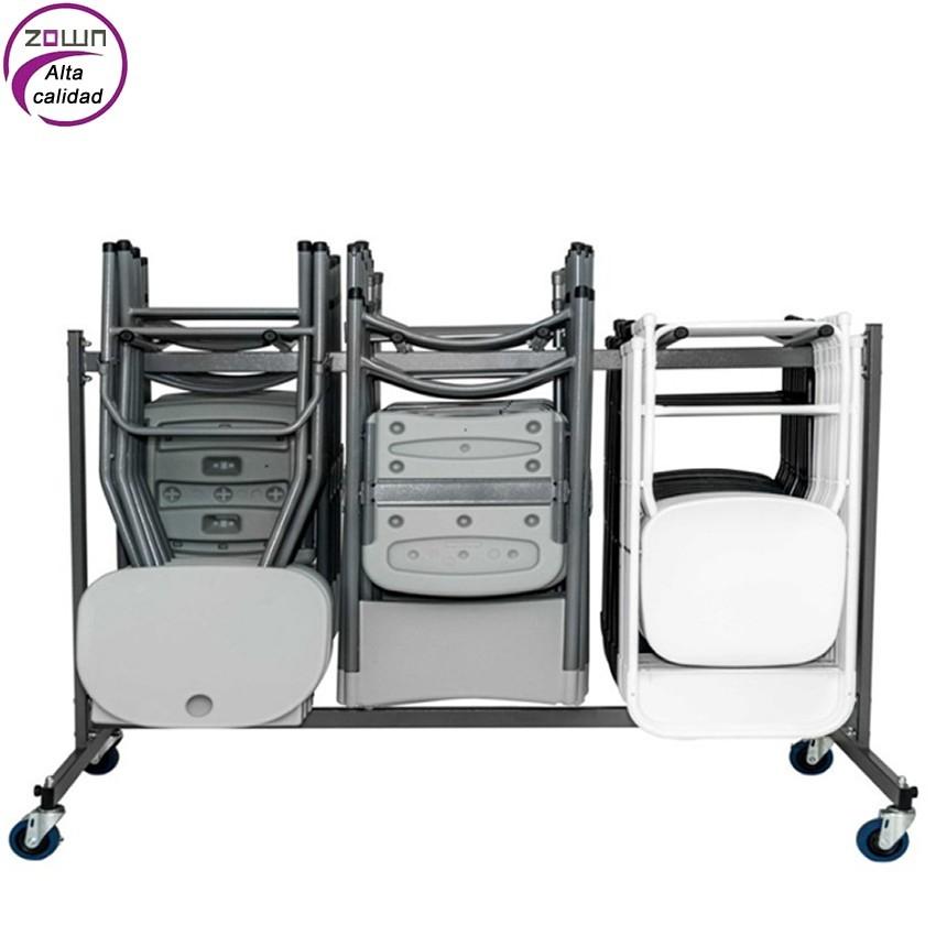 Carro de almacenamiento de sillas para colectividades for Compra de sillas plegables