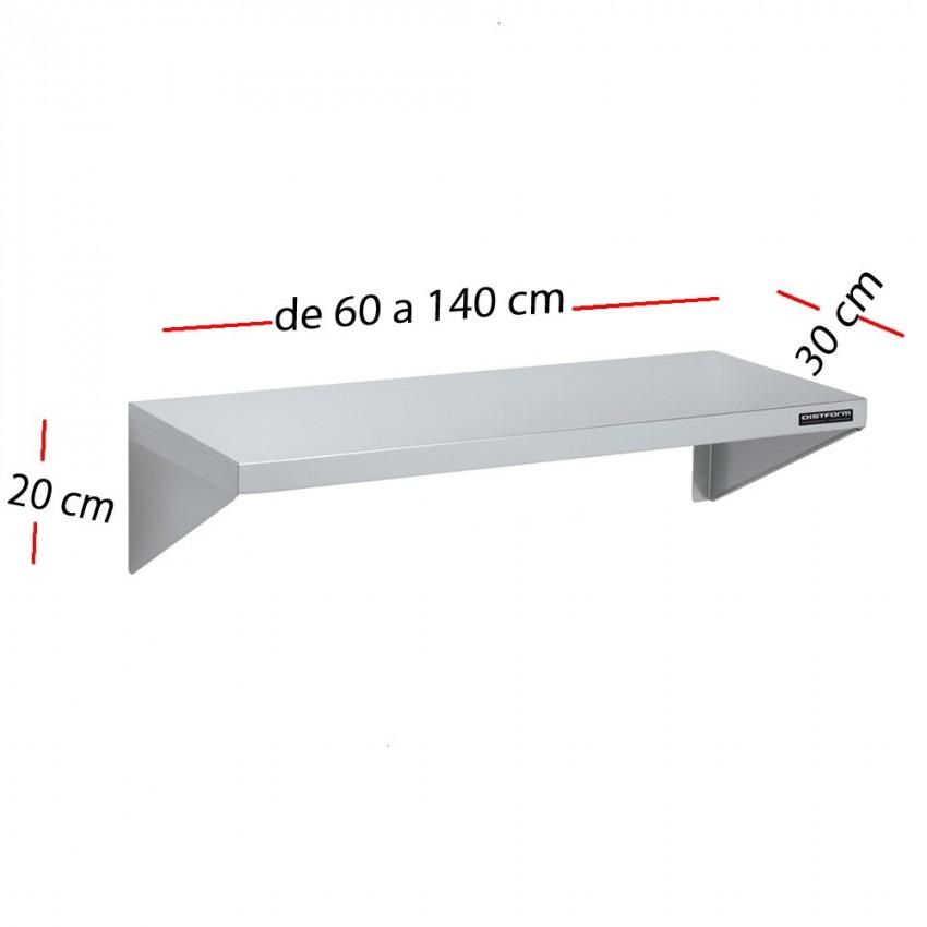 Estante desmontable inox de 60 x 30 cm F0100207