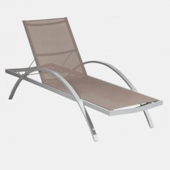 Tumbona para terrazas Alegría reclinable