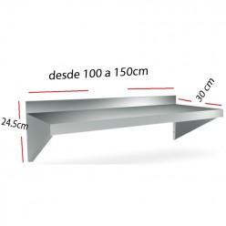 Repisa Mural en acero Inox 100x30 Compacta 06-011402