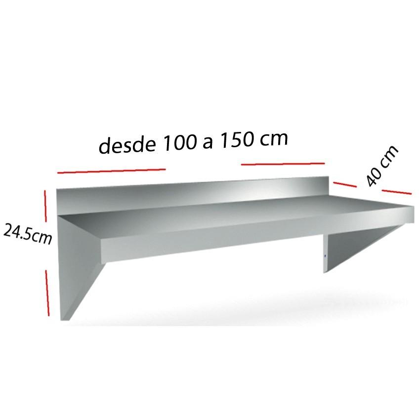 Repisa Mural en acero Inox 100x40 Compacta 06-011408