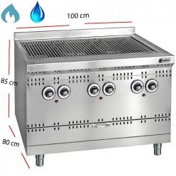 Barbacoa de gas y agua Parrilla inox 70x80 cm- GGSD 2C