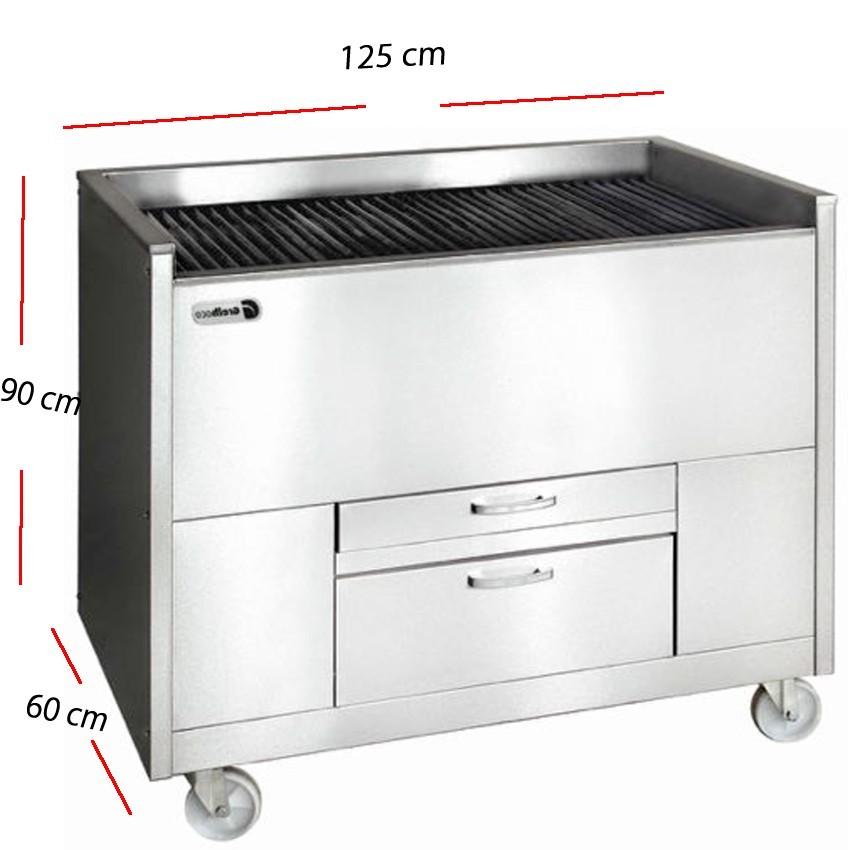 Barbacoa de gas y agua Parrilla inox 100x80 cm- GGSD 3C