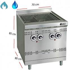 Barbacoa de gas y agua Parrilla inox 40x80 cm- GGSD 1C