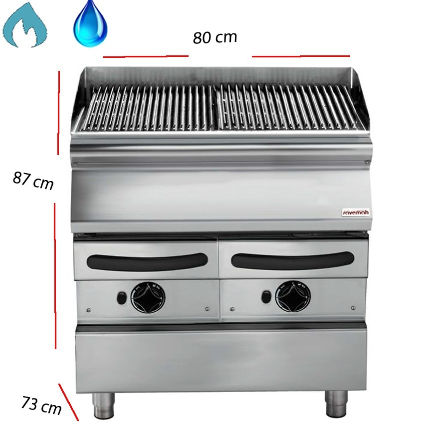 Barbacoas de agua gas Parrilla inclinada 40 x73 cm- SV 74 GRACQG
