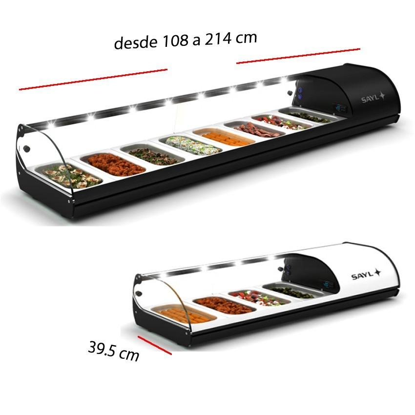 Vitrina de tapas fría desde 4 GN 1/3x40- 108.5x39.5 cm- V4E