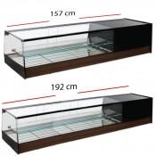 Vitrina DOBLE para platos y cristal recto 120 cm VIR-iE