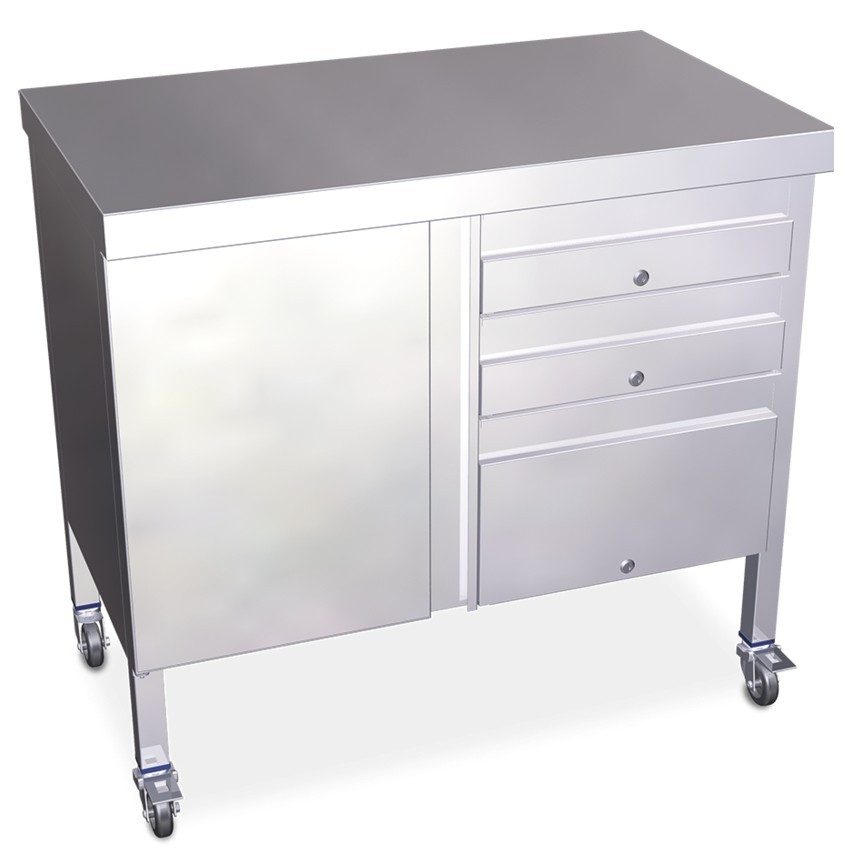 Mesa auxiliar de acero 100 x 60 cm - 06-075240