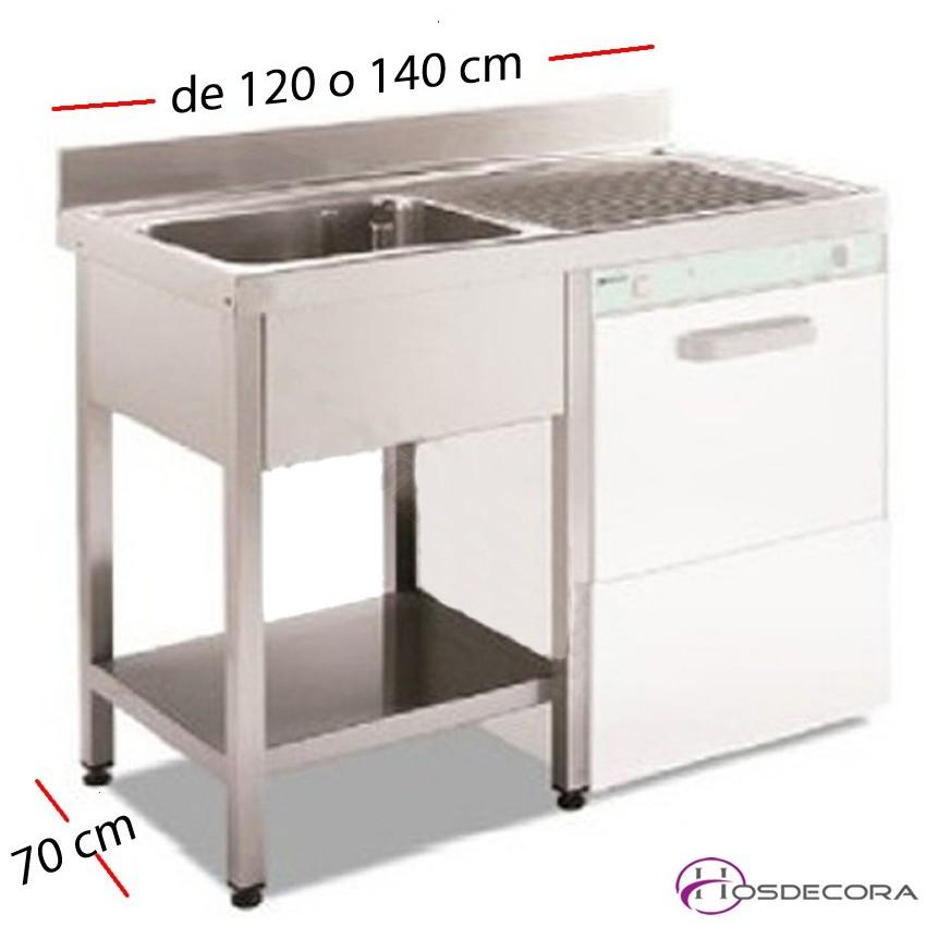 Fregadero para lavavajillas 120 x 70 cm -1 cuba