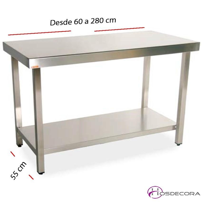 Mesa de trabajo con Estante fondo 55 cm- Largo desde 60 cm.