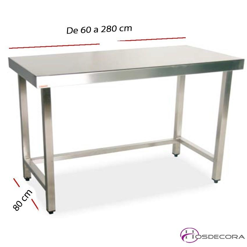 Mesa de trabajo fondo 80 cm- Largo de 60  a 280 cm.