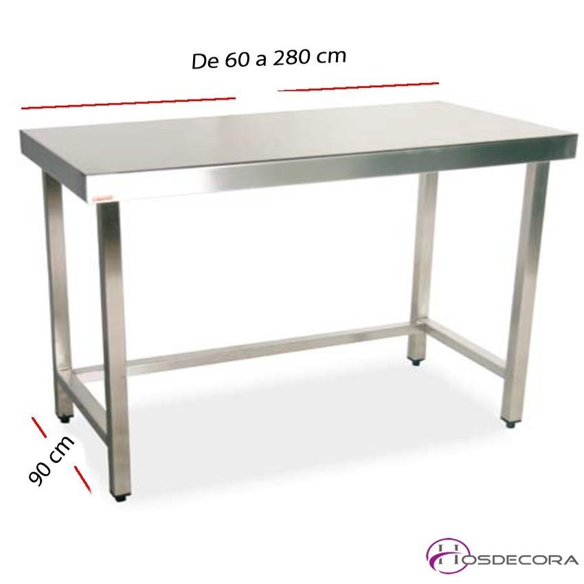 Mesa de trabajo fondo 90 cm- Largo de 60 a 280 cm.