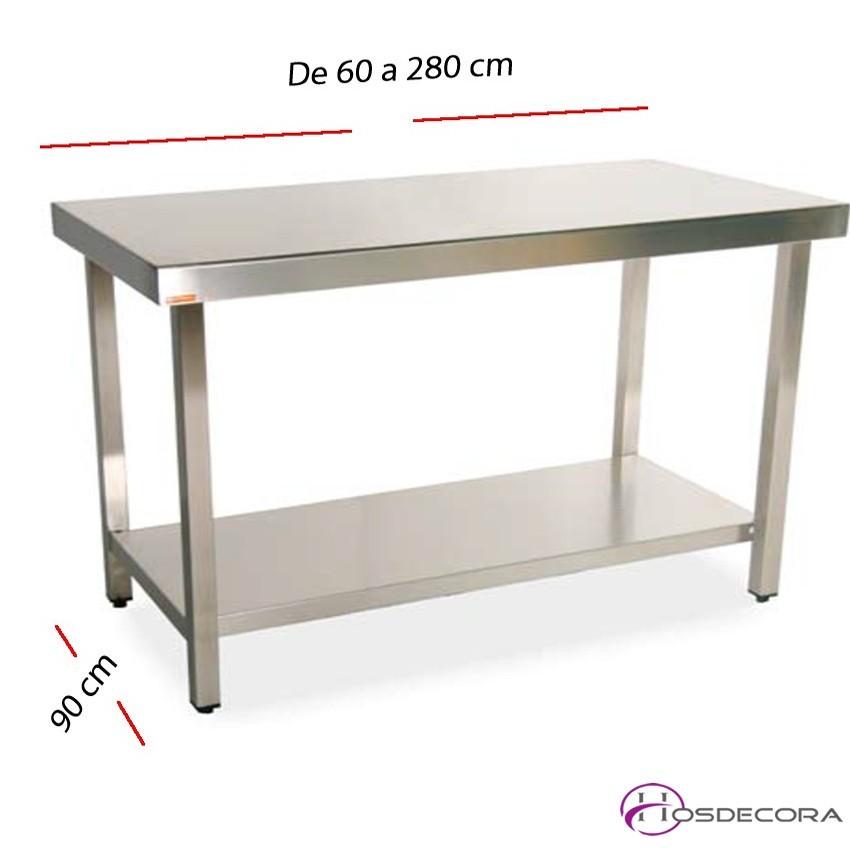 Mesa de trabajo estante fondo 90 cm- Largo de 60 a 280 cm.