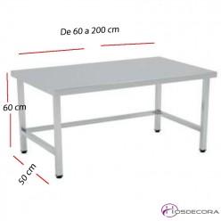 Mesas de trabajo para cocina de acero inoxidable - Hosdecora