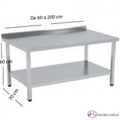 Mesas bajas de cocci n para cocinas industriales hosdecora for Estanterias cocina industrial