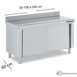 Mesa inox puertas correderas 100 x 60 cm F0070001