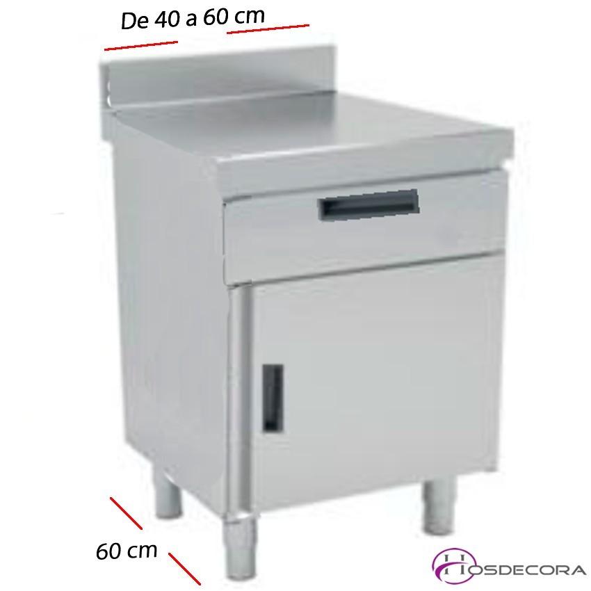 Mesa de trabajo Puerta y cajones desde 40 a 60 cm. Fondo 60 cm
