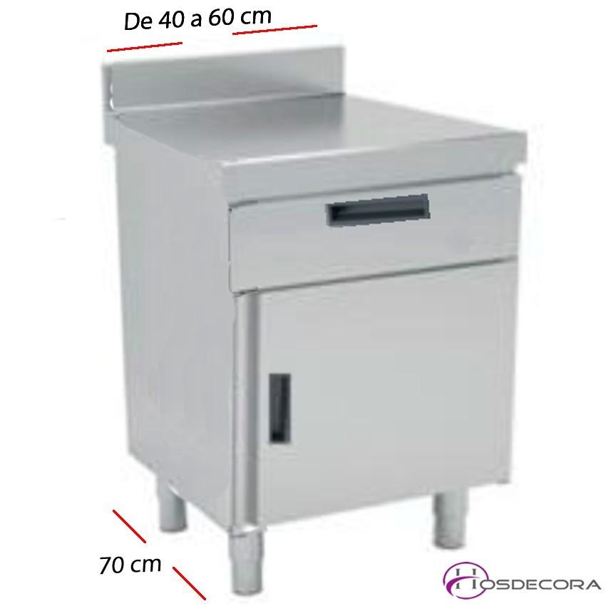 Mesa de trabajo Puerta y cajones desde 40 a 60 cm. Fondo 70 cm