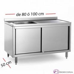Fregadero con puertas de 80 a 100 cm x 50 cm - 1 Cubeta