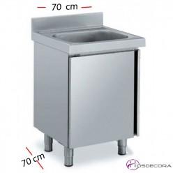 Fregadero cerrado de 60 x 60 cm - 1 Cubeta