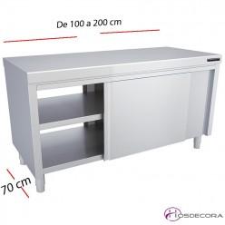 Mesa pasante inox 120 X 60 cm 02-F0070022