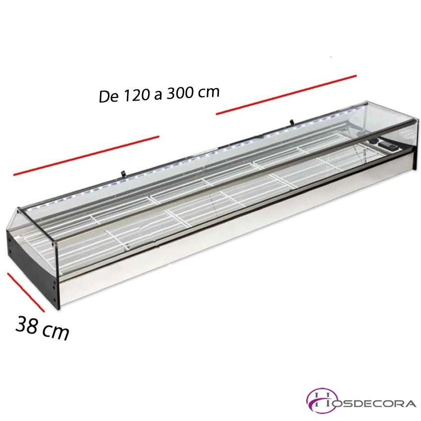 Vitrina Doble estante y cristal recto -192 cm VIRi