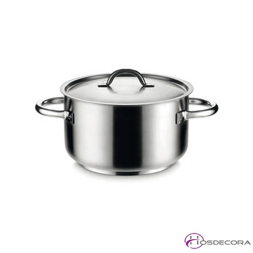 Cacerola alta de acero inox de 20 a 99 litros