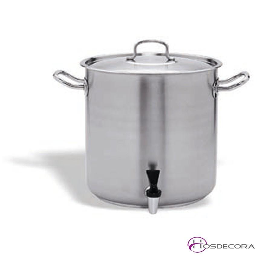 Olla con grifo de acero inox de 16 a 72 litros