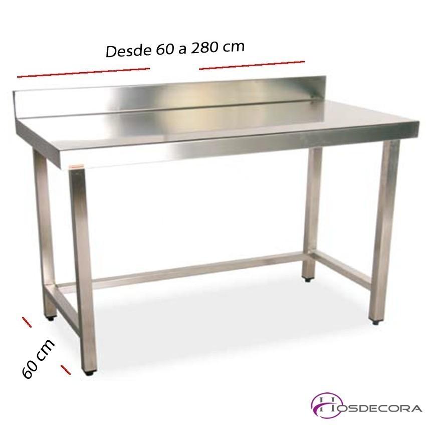 Mesa de trabajo con peto fondo 60 cm- Largo desde 60 cm.