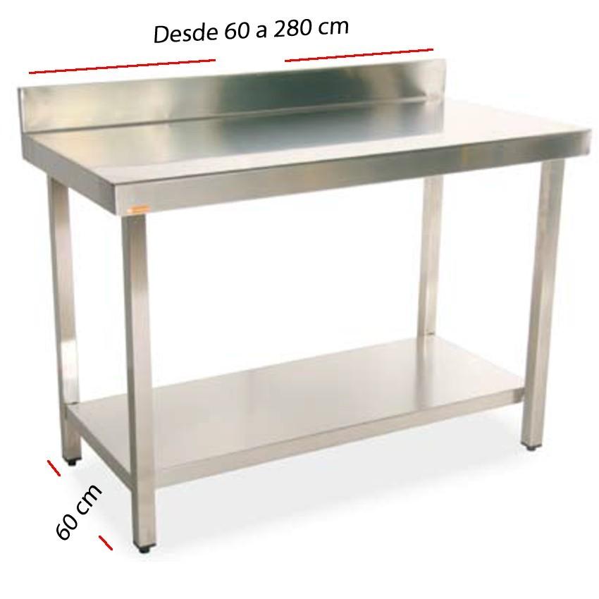 Mesa de trabajo peto-estante fondo 60 cm- Largo desde 60 cm.
