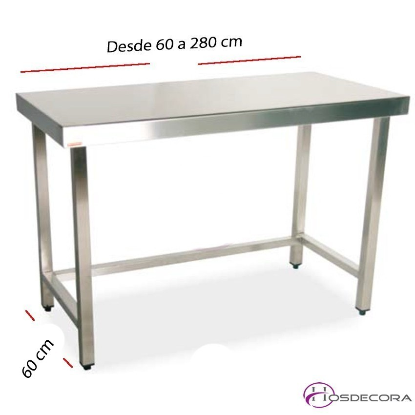 Mesa de trabajo central fondo 60 cm- Largo desde 60 cm.