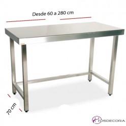 Mesa de trabajo central fondo 70 cm- Largo desde 60 cm.