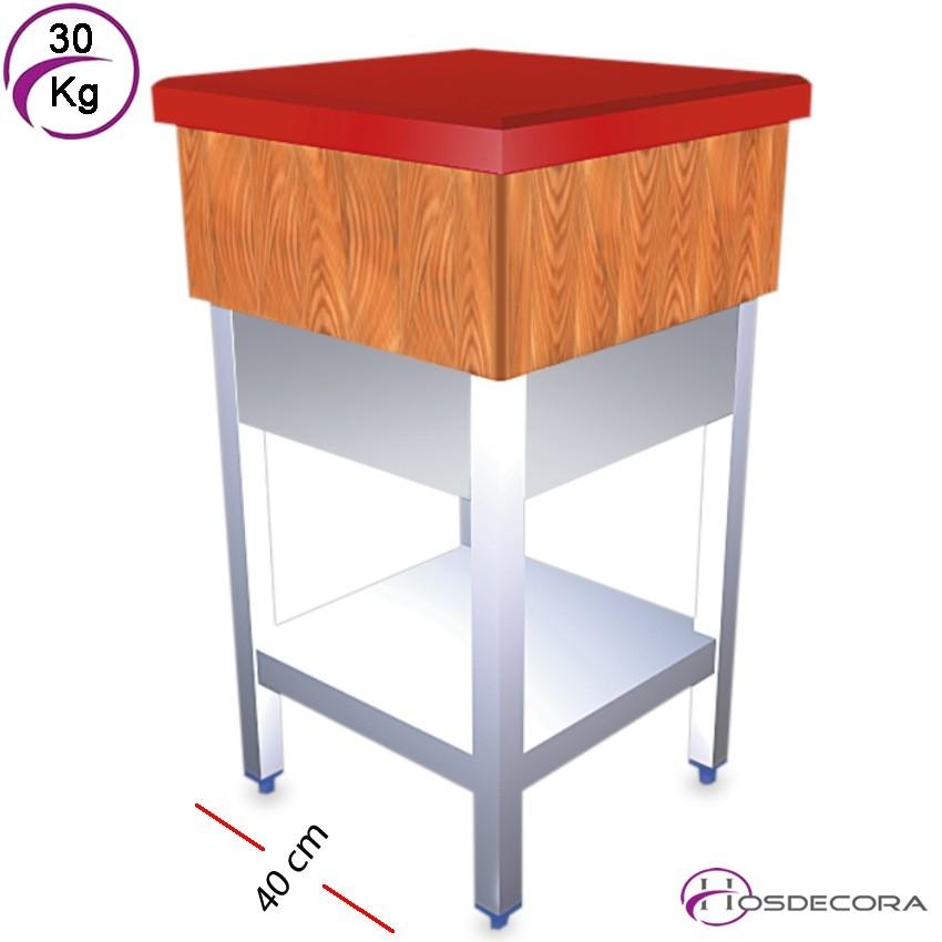Tajo de madera con faldón 45 x 45 - 45 kg FI031104