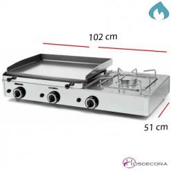 Plancha con fuego para hosteleria placa acero 1020x510-6mm- FUGGP6.6F
