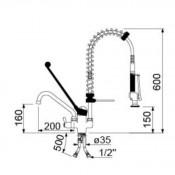 Grifo de ducha dos aguas para pared y grifo bajo ECO 34-548869