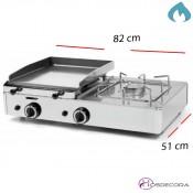 Plancha  Industrial con fuego placa acero 820x510-6mm- FUGGP6.4F