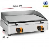 Plancha Electrica Profesional acero 608x530-15mm espesor