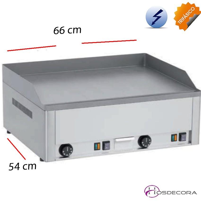 Plancha de bar electrica Hierro 66 x 54 -6 kw -10 mm.