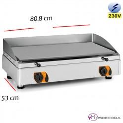Plancha Electrica restaurante acero 808x530-15mm espesor