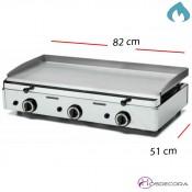 Plancha Profesional a Gas Acero Inox 820x510-15mm- FUGGP15.8