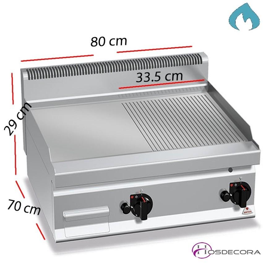 Fritop a Gas Ranurada Fondo 70 - 10.8 Kw- G7FR8B-2