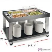 Dispensador de agua 1 cuba cristal 8.5 Litros - Buffet