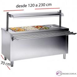 Mesas Sel-service Placa fría desde 120 a 230 cm.