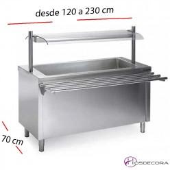 Mesas Sel-service Baño María SECO desde 120 a 230 cm.