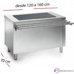 Mesas Sel-service Vitrocerámica con RESERVA desde 120 a 160 cm.