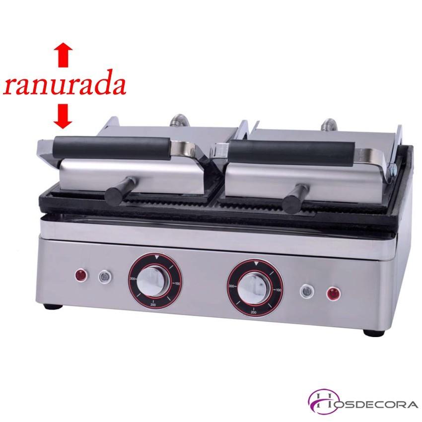Sandwichera Ranurada 26 x 40 x 27 cm- 2 x 600 W