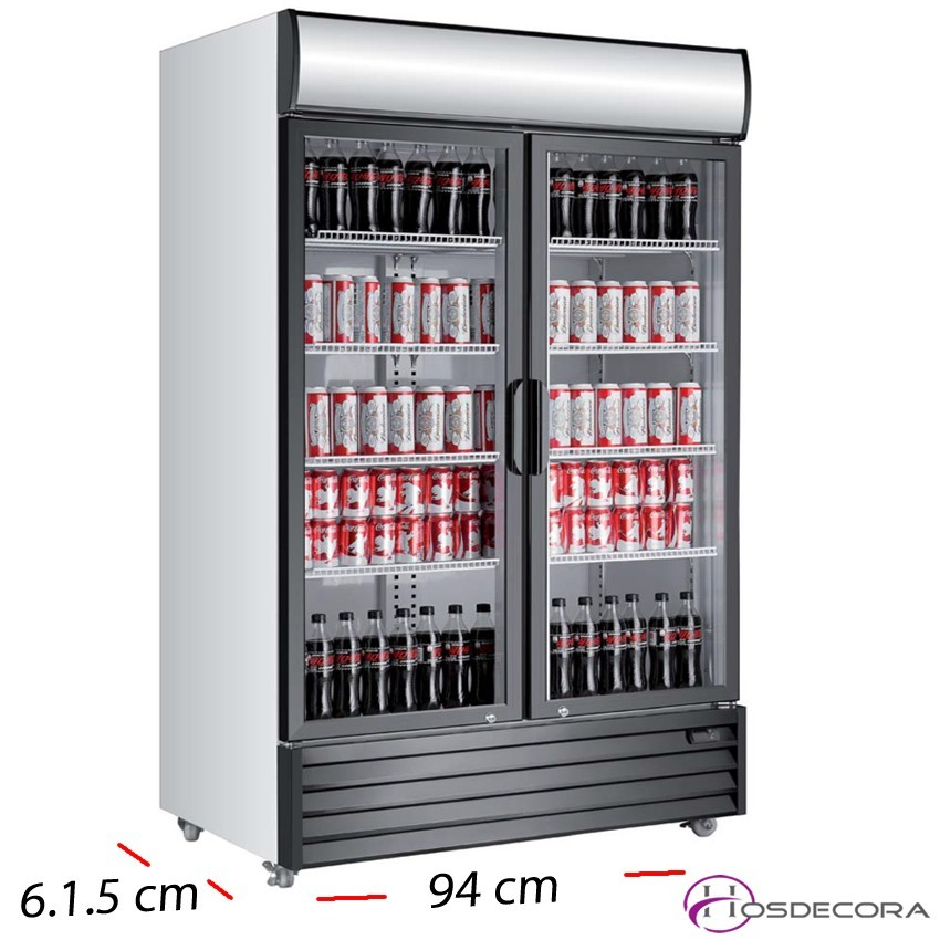 Nevera Doble Cartel luminoso 2 P cristal - 800 L- 750 W
