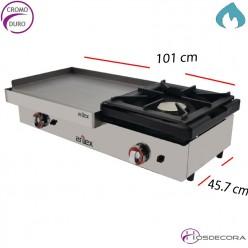 Plancha para cocina Cromo 15mm 610x457