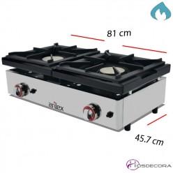 Cocina a Gas 1 Fuego 6 Kw Sobremostrador