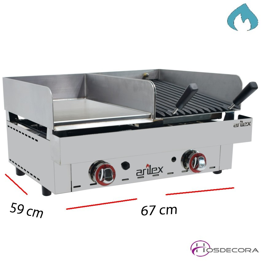 Plancha barbacoa de gas affordable plancha de gas - Planchas para barbacoa ...